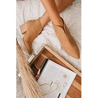 On What Grounds Faux Suede Booties (Butterscotch)