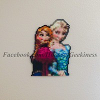 Frozen Inspired Anna and Elsa Wall Decor or Magnet from House of Geekiness