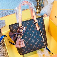 LV New fashion monogram print leather shoulder bag handbag