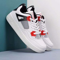 Nike Air Jordan Air Force AJ4 Fashionable Men Breathable Sport Running Shoes Sneakers White