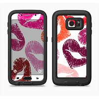 The Vector Puckered Color Lip Prints Full Body Samsung Galaxy S6 LifeProof Fre Case Skin Kit