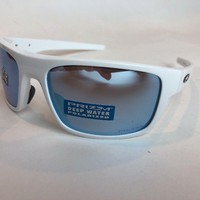 Oakley Sunglasses Drop Point Polished White Prizm Deep Water Polarized OO9367-14