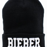 Leegoal Unisex Winter Warm Letters Printed Knit Hat,Black 10