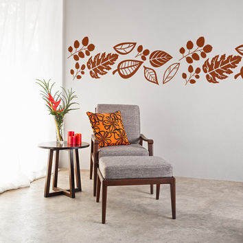 Wall Decal Leaves Fall Nature Autumn September Season Back to School
