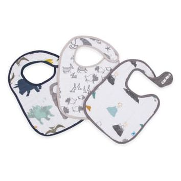 little unicorn 3-Pack Classic Cotton Muslin Bibs | Nordstrom