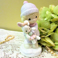 Precious Moments Figurine Girl Rabbit Good Friends are For Always Collector blm