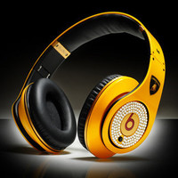 Monster Beats By Dr. Dre Studio Diamond Headphones Lamborghini Limited Edition 100% AUTHENTIC
