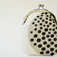 Tall coin purse - black spots on natural