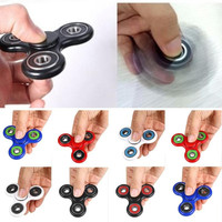 Handspinner EDC Finger Fidget Spinner Ceramic Bearing Metal Toy Tri Spinner Education Learning Toy Antistress Fidget Funny Toys