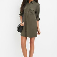 Utility-Inspired Shirt Dress