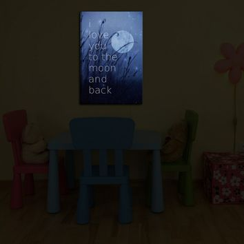 *** Bright your room with Monika Strigel's 'Love You to the Moon'    Illuminated Wall Art by DiaNoche ***