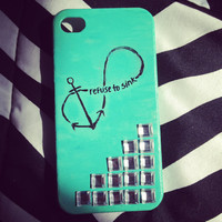 """Anchor Infinity """"Refuse To Sink"""" iPhone 4/4S Case"""