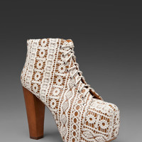 Jeffrey Campbell Lita in Beige Lace Tan from REVOLVEclothing.com