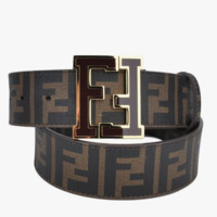 FENDI Fashion Men Woman Personality Smooth Buckle Belt Leather Belt I-A-GFPDPF
