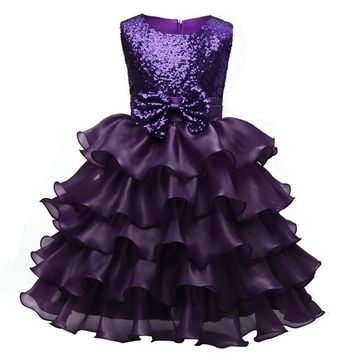 Gorgeous Princess Children Christmas Costumes baby girls clothing Girl dress Pageant Ball Toddler Kids dresses for girls clothes