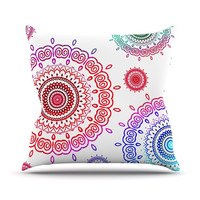 "Monika Strigel ""Rainbow Infinity"" Throw Pillow, 16"" x 16"" - Outlet Item"