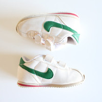 US Free Shipping Nike Sneakers Toddler Green Unisex Baby Sneaker Kids Sport Shoes Vintage Size 6 #S022A