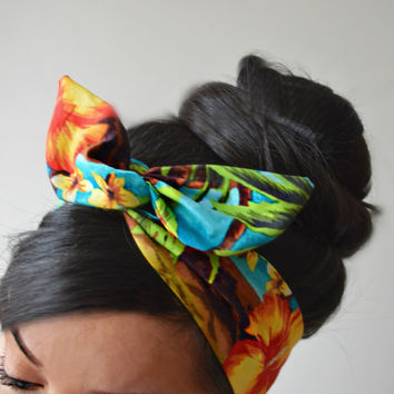 Tropical Palm Tree Dolly Bow head band