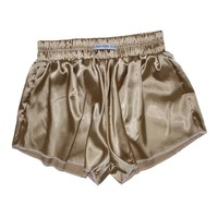 Vintage Gold High Waist Satin Shorts