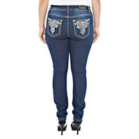 Sequin Squares Skinny Jeans