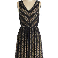 ModCloth Vintage Inspired Mid-length Tank top (2 thick straps) A-line Downstage Darling Dress