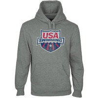 USA Swimming Distressed Crest Pullover Hoodie - Gunmetal