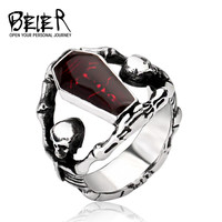 Beier Punk Stainless Steel Party Wedding Bands For Men Br8-101