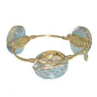 Bourbon & Bowties Large Tan Iridescent Round Bangle