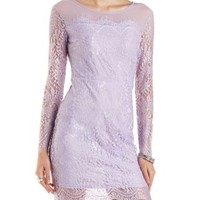 All-Over Lace Midi Bodycon Dress by Charlotte Russe