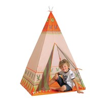 Kids Toy Tents Foldable Portable Natural Indian Pattern Teepees Safety tipi Playhouse Tent for Indoor Game Outdoor Tente Enfant