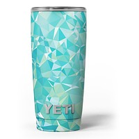 Teal Geometric V13 - Skin Decal Vinyl Wrap Kit compatible with the Yeti Rambler Cooler Tumbler Cups