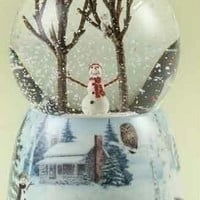 3 Snowman Snow Globes - Plays Winter Wonderland