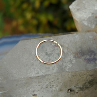 Nipple Ring/Septum Ring/Nose ring 14K Solid Rose Gold Handcrafted
