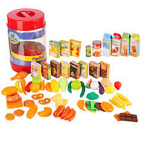 Just Like Home 85-Piece Play Food Set (Colors Styles Vary)
