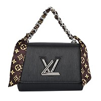 LV Louis Vuitton canvas women's chain bag shoulder bag