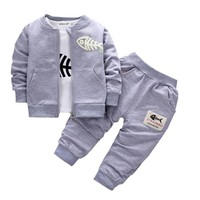 Baby Boy Spring Autumn Gentleman Clothing sets Suit Newborn Baby Bow Tie t-shirt + pants 2pcs set Cotton baby clothes