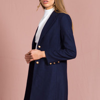 Donatella Short Winter Coat – NAVY