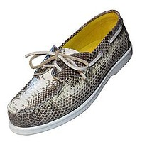 Snake Skin Boat Shoes Sperry Style Deck Shoes Lounge Lizard Style - On Sale