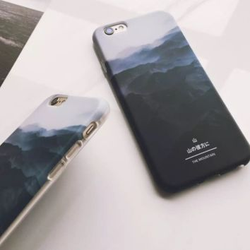Mountain In the Morning Pattern Iphone 7 7Plus &6 6S Plus Cover Case + Nice Gift Box