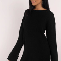 Allison Cuffed Sleeve Sweater Dress