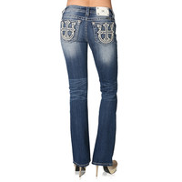 Miss Me Women's Cross and Horseshoe Embellished Jeans