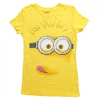 Juniors T-Shirt -Despicable Me - Silly Minion, Yellow, XLarge