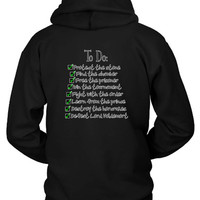 Harry Potter Checklist Hoodie Two Sided