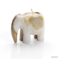 Onyx Elephant Tea Light Candle Holder