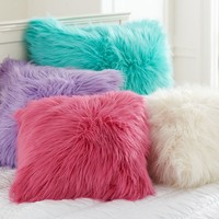 Fur-rific Faux Fur Pillow Cover