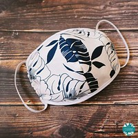 Hawaiian Face Mask for Adults ~ White Orchid Shadow