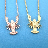 Lobster Shaped Marine Life Inspired Pendant Necklace