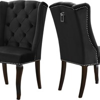 Suri Black Velvet Dining Chair (set of 2)