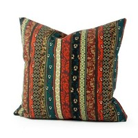 Lavievert Ethnic Stripe Canvas Square Toss Pillowcase Cushion Cover Handmade Throw Pillow Case with Hidden Zipper Closure 20 X 20 Inches