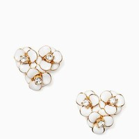 shine on flower cluster studs